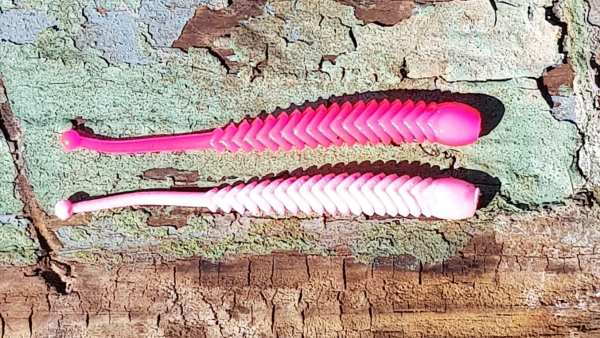 ProBaits Rattle Snake 80 mm - Pink Weiß - Knoblauch
