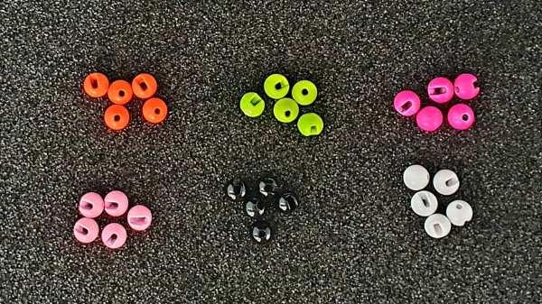 Tungsten Slotted Beads 4,0 mm - 0,5 g - 5 Stück